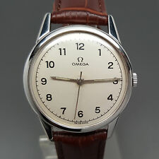 1963 Omega Caliber 286 Ivory Dial Manual Winding Watch Rare Vintage!