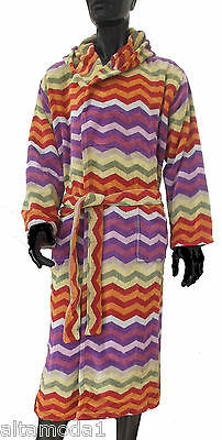 Missoni Home Accappatoio Cappuccio Ciniglia Chevron Collection Pete Hood Robe L