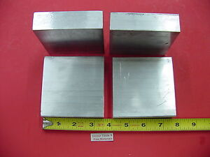 "4 Pieces 1"" X 3-1/2"" ALUMINUM 6061 FLAT BAR 3.5"" long T6 Solid Plate Mill Stock"