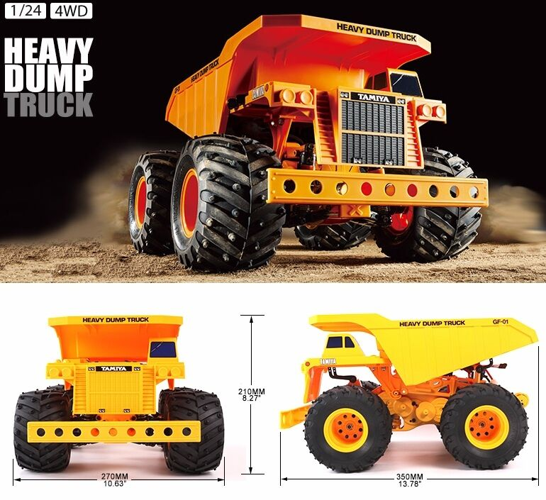 TAMIYA 58622 Heavy Dumper RC Auto Kit-Accordo Bundle con steerwheel Radio