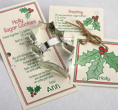 Ann Clark HOLLY LEAF Tin Plated Steel Cookie Cutter W//Recipe  USA