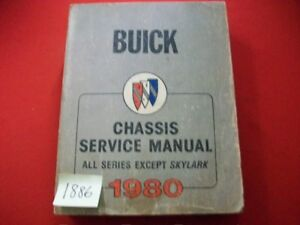 1980-FACTORY-ISSUED-BUICK-CHASSIS-SERVICE-MANUAL-ALL-SERIES-EXCEPT-SKYLARK-VGC