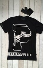 BNWT PHILIPP PLEIN ROUND NECK COLLEGE PLEIN BLACK T-SHIRT SIZE MEDIUM