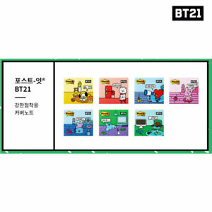 BTS-BT21-Official-Authentic-Goods-Post-it-Cover-Note-7SET-Tracking-Number
