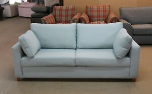Willow-amp-Hall-Somerton-Designer-Light-Blue-Fabric-3-5-Seater-Sofa-Bed