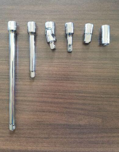 """Nouveau Craftsman 6 Pièces 1//4/"""" Drive Cliquet Socket Extension Set Accessoire 1//4 pouces"""