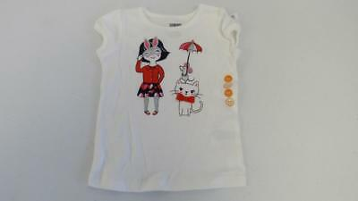 Gymboree Prep Perfect White S//S Shirt Top Girl w//Cat /& Mouse 12-18-24 2T 3T NEW