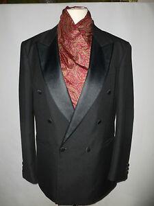 100% Wahr Mens Skopes Black Dinner Suit -- Size Uk 40l
