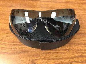 Cristal Swarovski Prada SPR601 Sem Aro Óculos De Sol Escudo Com ... 644a7e5166