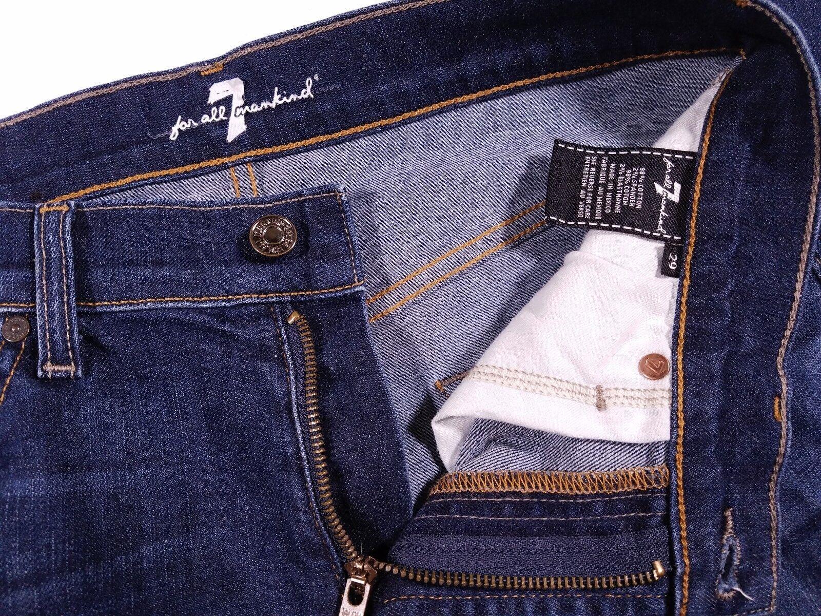 7 For All Mankind Straight Leg Dark Dark Dark Jeans Talla 29 Hombre b1cd96