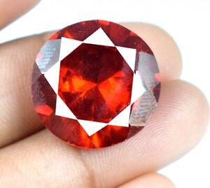 42.80 Ct Padparadscha Orange Sapphire Round Gemstone Natural Certified A34850