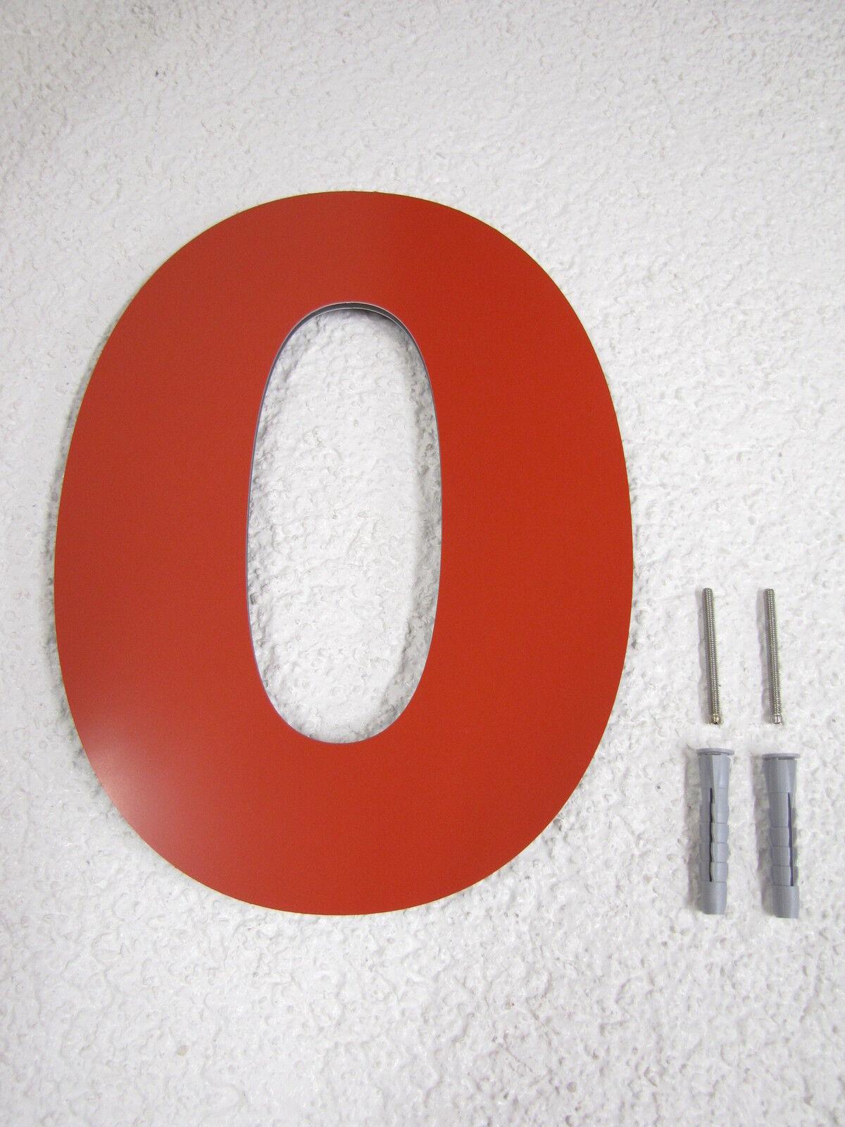 Hausnummer Rot RAL 3000 Zahl 0-9 Buchstabe a a a b c d e f g h -   25 oder 30 cm | Creative  | Qualitativ Hochwertiges Produkt  | Shop Düsseldorf  fe5b8d