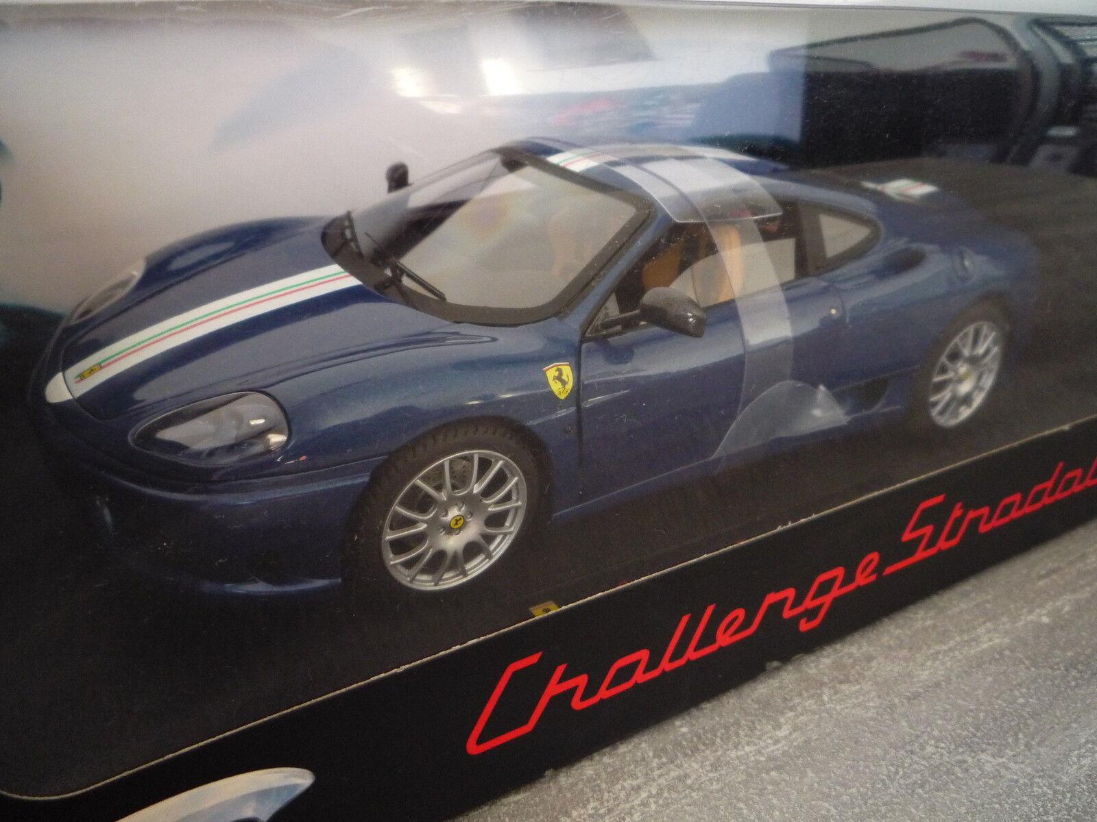 Ferrari 360 Modena Challenge Stradale Bleu bleu Hotwheels Elite 1 18  P9892