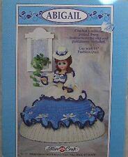 "Fibre Craft Abigail 15"" Fashion Classic Doll Crochet Pattern Victorian Doll"