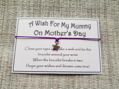 Mother/'s Day Wish Favor Mummy Wish Bracelet Friendship Gift