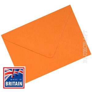 Confezione-da-200-x-C6-A6-SPAGNOLO-Arancione-Buste-100gsm-6-x-4-034-114-x-162mm