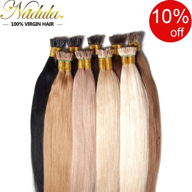 100 Strands Pre Bonded Keratin Stick I Tip 100 Remy Real Human Hair