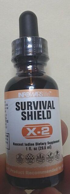 Infowars Alex Jones X-2 Survival Shield Nascent Iodine. SAME DAY SHIPPING!