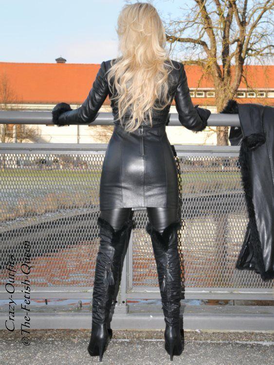 Lederkleid Leder Leder Leder Kleid black Langarm Größe 32 - 58 XS - XXXL 1fb93d