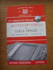 29/11/1966 Nottingham Forest v Dukla Prague [Friendly] (score noted on front cov