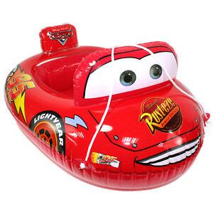 Baby Kids Toddler Lightning Mcqueen Swim Pool Boat Ring