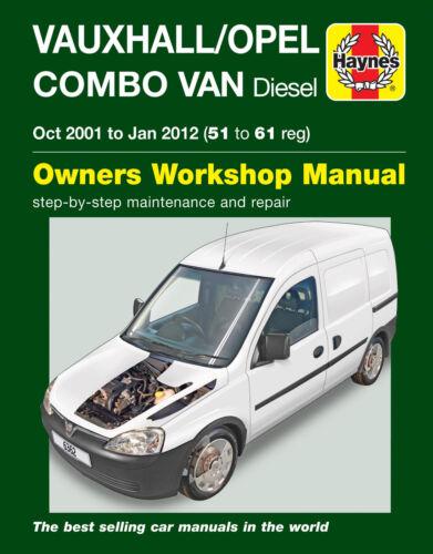 VAUXHALL COMBO Riparazione Manuale Haynes WORKSHOP MANUALE DI SERVIZIO 2001-2012