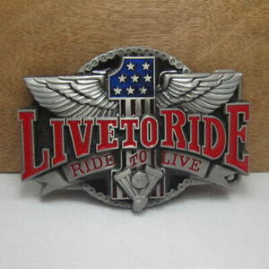 8f9a8936600d6 Live to Ride Vintage Eagle Men s Belt Buckle Western Cowboy Native ...