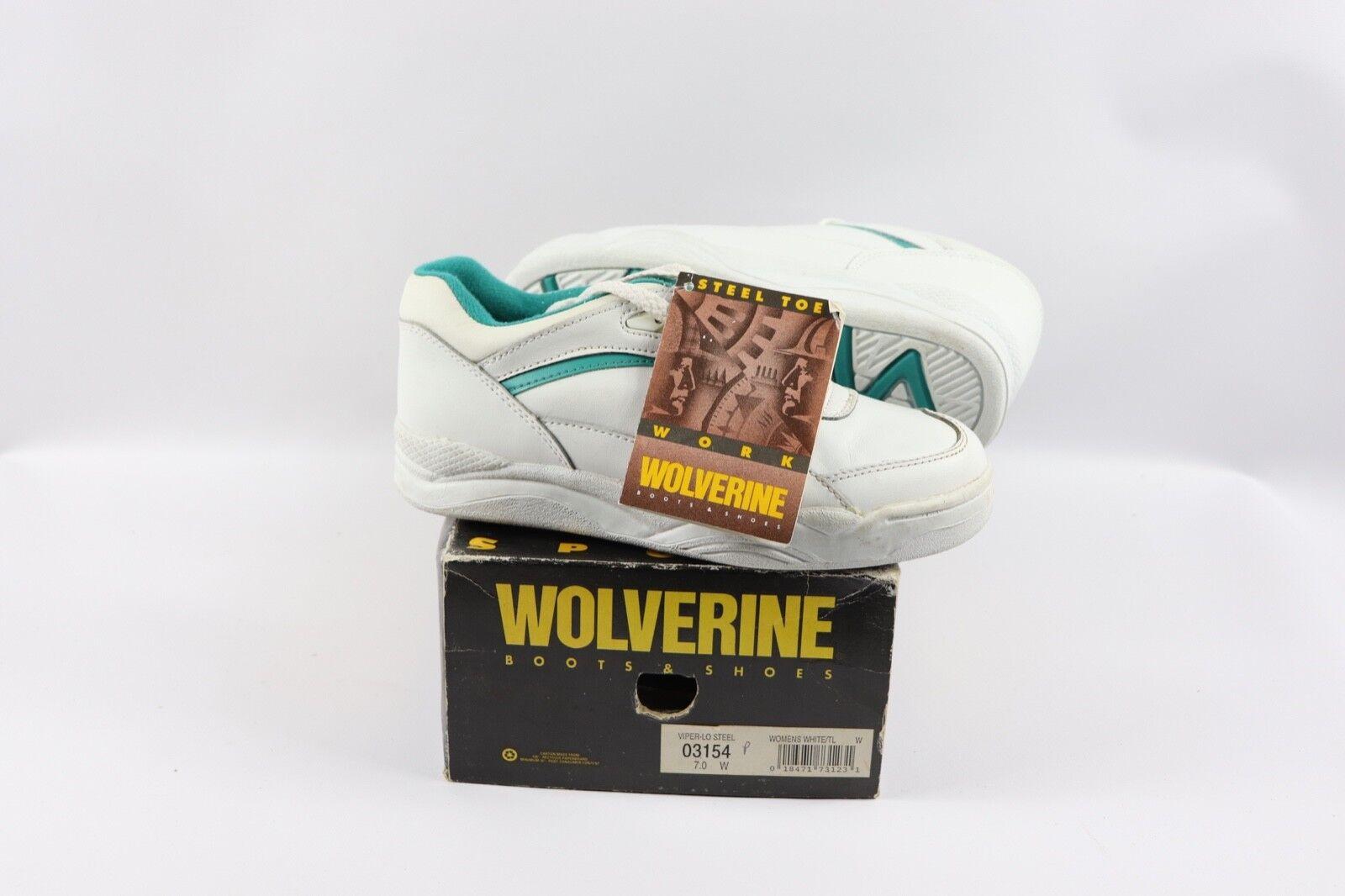 De Colección Nuevo Wolverine para mujer 7 W Viper lo lo lo Puntera De Acero Zapatos de trabajo Atlético blancoo  artículos novedosos