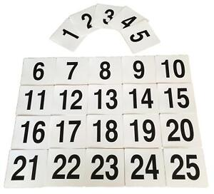 Wedding-Event-Party-Table-Number-Plastic-Place-Cards-Double-sided