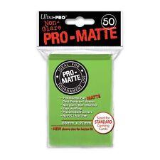 50 PRO MATTE DECK PROTECTORS Lime Green Verde Lime MTG MAGIC Ultra Pro