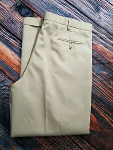 Dockers-Premium-Pleated-Relaxed-Fit-Cuff-Dress-Pants-Brown-Mens-Size-W36-x-L30