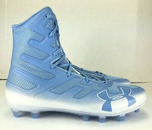 Under Armour Highlight MC Football Lacrosse Cleats Size 13 Carolina Blue White