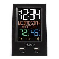 C86224 La Crosse Technology Alarm Clock Charging Station With 2 Usb Charging