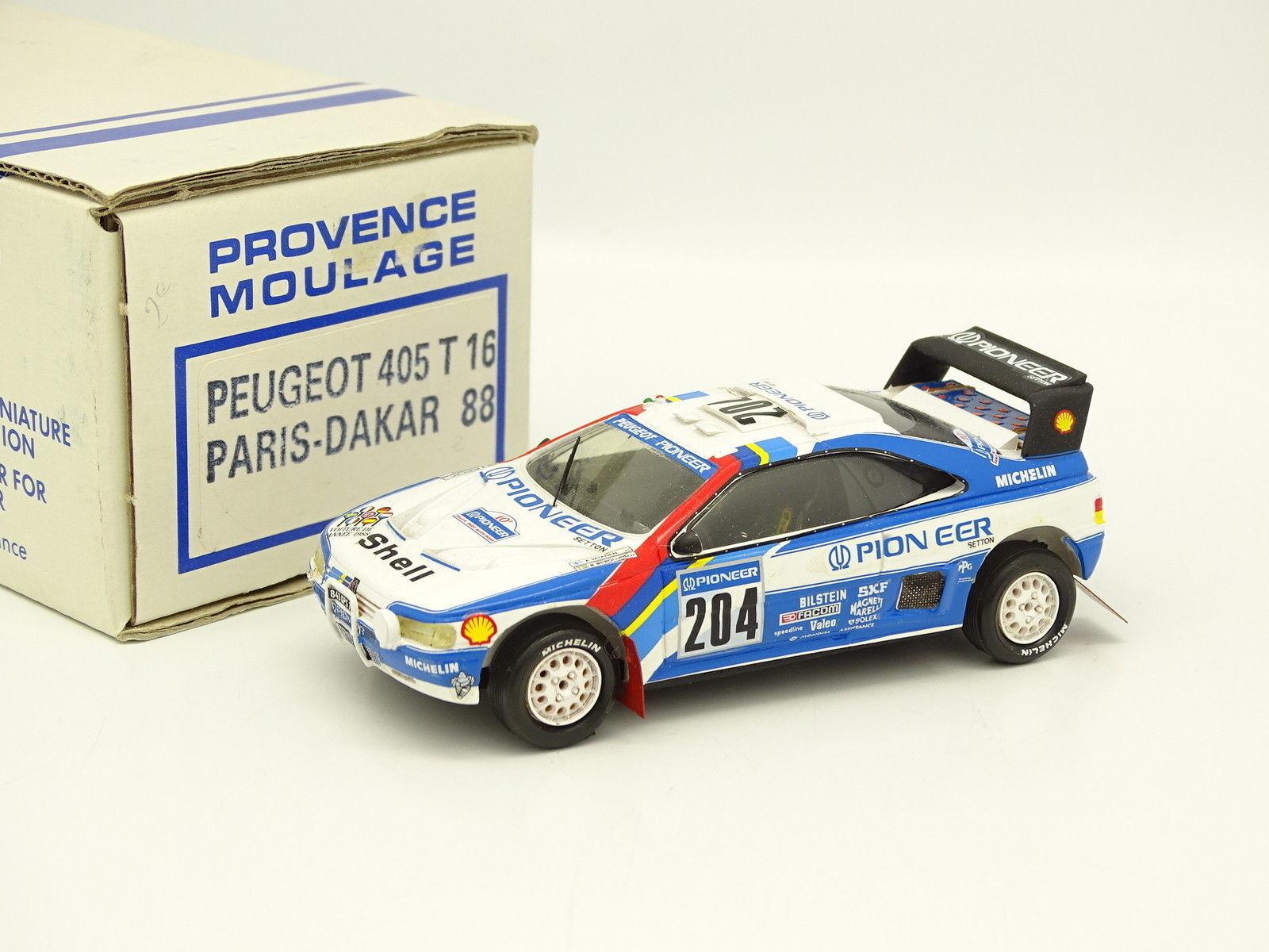 Provence Moulage Kit Monté 1 43 - Peugeot 405 T16 Paris Dakar 1988 Vatanen