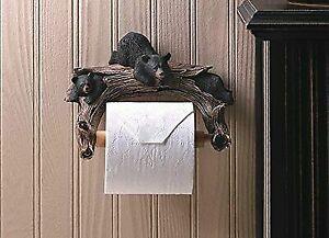 Black Bear Bathroom Toilet Paper Holder