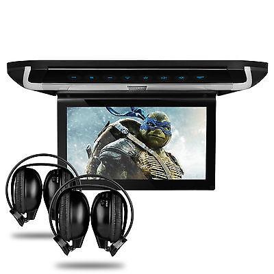 "10"" HD Car Roof DVD Player Game Touch Button HDMI Digital Screen Van + Headphone"