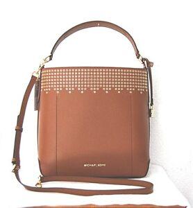 0d493c0d6027e Das Bild wird geladen MICHAEL-KORS-Handtasche-Neu-450-Hayes-LG-Bucket-