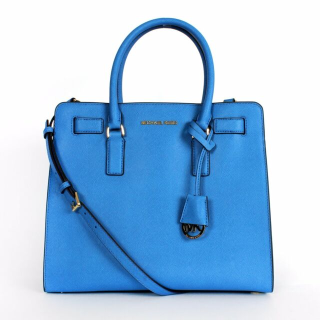 f33dceb1d620 Michael Kors Dillon Saffiano Leather Large NS Tote Heritage Blue | eBay