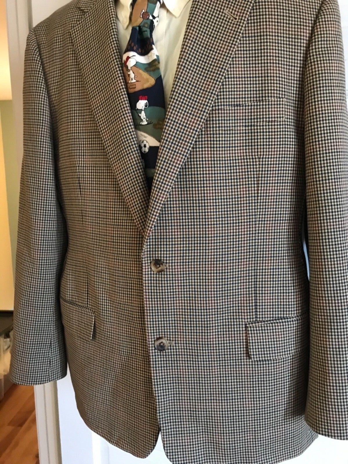 BROOKS BROTHERS Madison 1818 Wool Glen Plaid Blazer Sport Coat Sz 44 eeuc