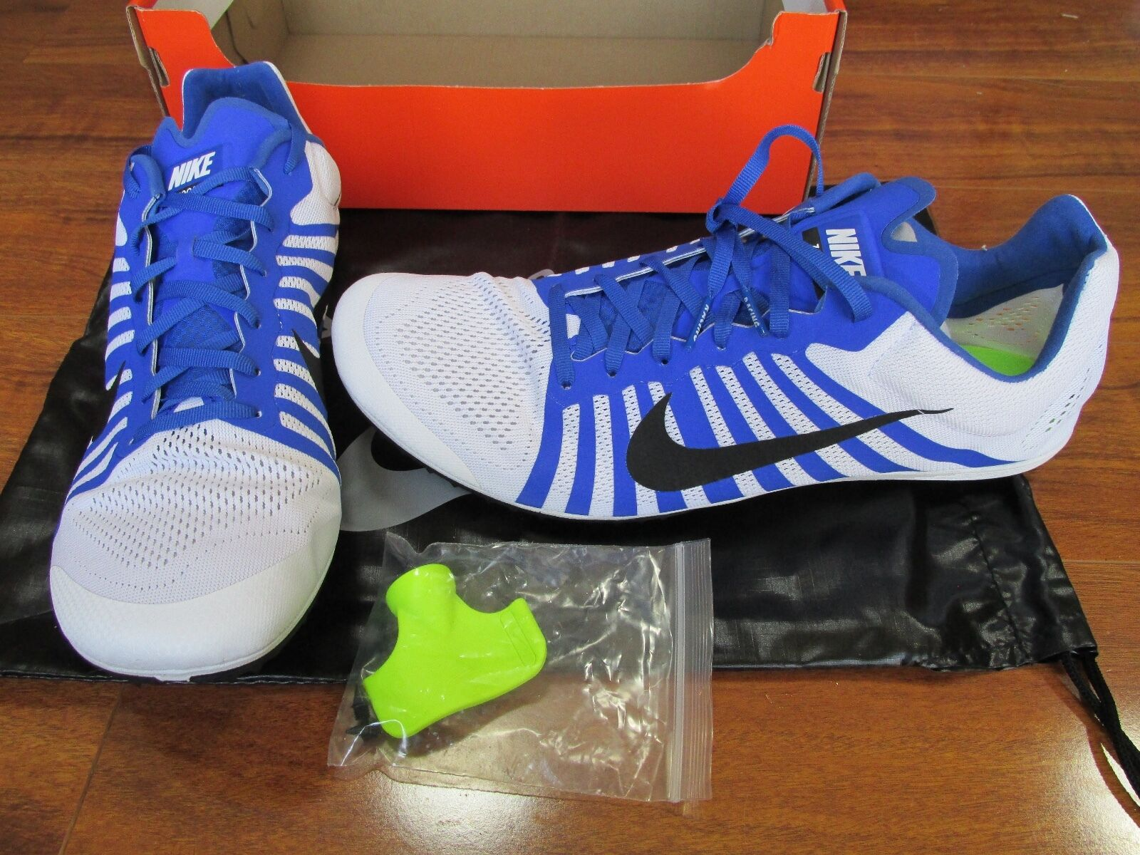 NEW NIKE Zoom D Track Shoes MENS 13 White Black Blue 819164 100 Price reduction