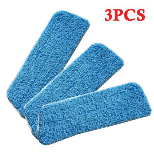 3pcs Wasser Sprüh Mop Kehrer Tuch Kopf Teile Ersatz Mikrofaser Wieder Kissen