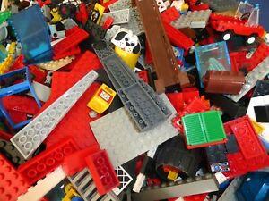 LEGO-100-TEILE-STARTER-SET-Mischlego-Konvolut-kg-Basics-Dach-Fenster-Zaun-Raeder