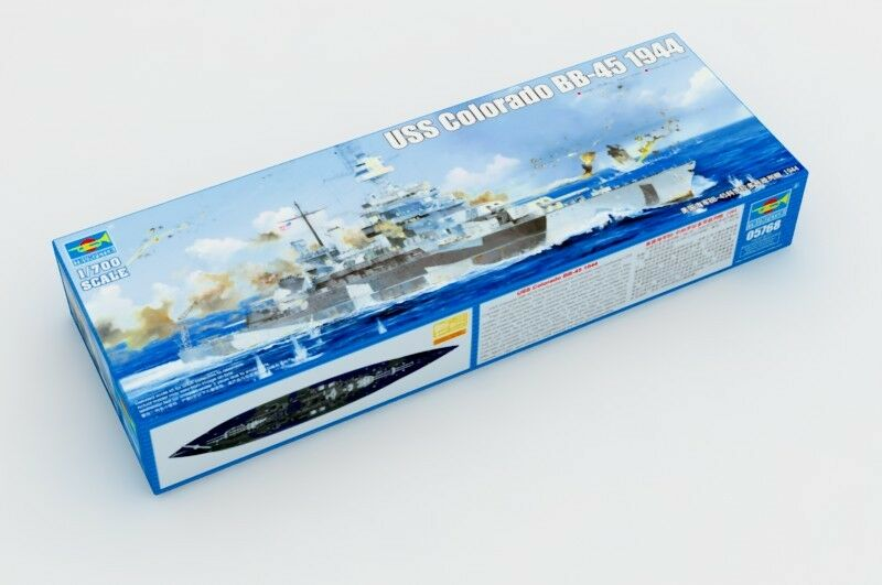 Warship USS colorado BB-45 1944 Battleship Model Boat Trumpeter 05768 1 700