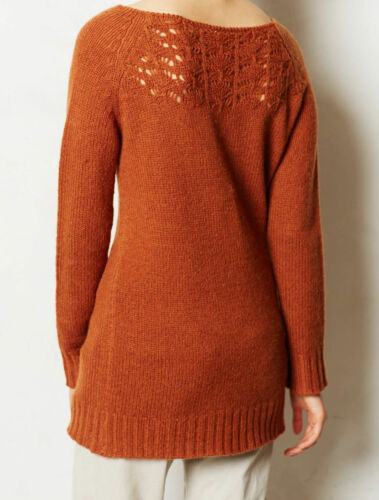 Details about  /NWT ANTHROPOLOGIE DASHED POINTELLE TAUPE PULLOVER SWEATER by MOTH M