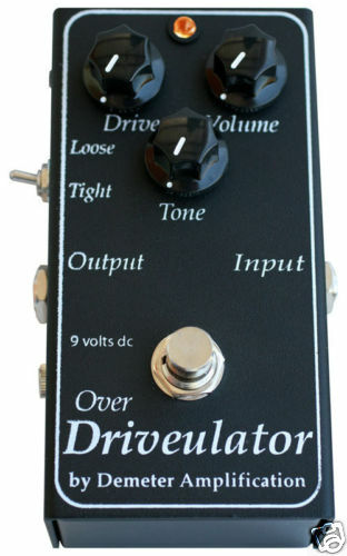 DEMETER DRV-1 Over Drivulator Players Choice Pedal Best Overdrive Distortion