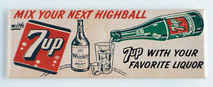 7-Up-Highball-FRIDGE-MAGNET-1-5-x-4-5-inches-soda-sign-cola-whiskey-bottle