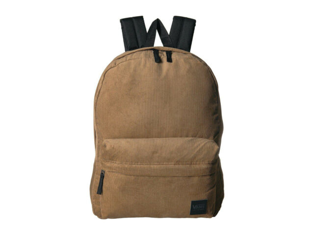 Vans DEANA III Dirt Corduroy Backpack (NEW) Brown Cord SCHOOL BAG Free Shipping!