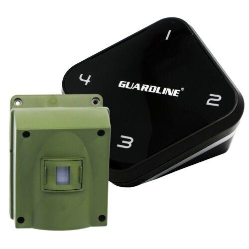 GUARDLINE 1//4 Mile Long Range Wireless Motion Alert Driveway Alarm System NEW