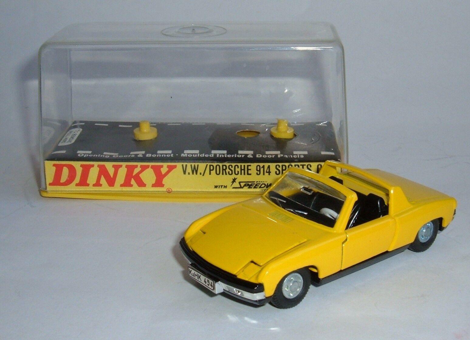 DINKY TOYS No 208, VW Porsche 914 voiture sport, - Superbe Comme neuf.