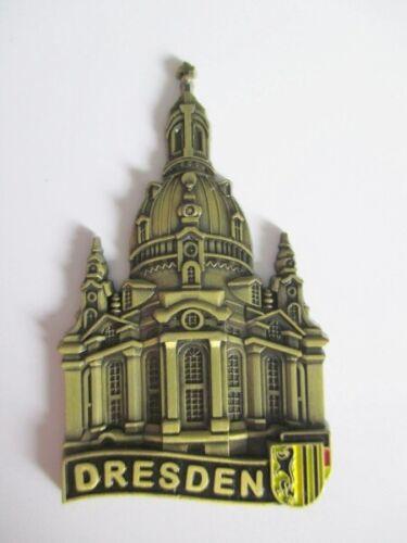 Dresden Frauenkirche Metall Magnet Souvenir Germany bronziert